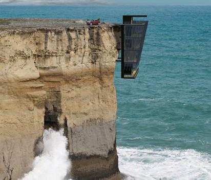 ¿Te atreverías a vivir en una casa modular sobre un acantilado?