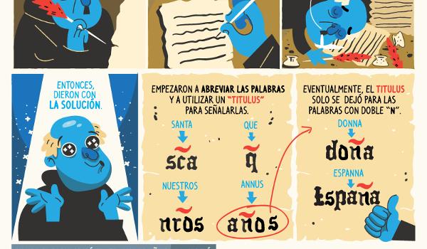 Origen la de la letra Ñ del español