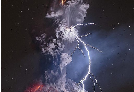Excelente fotografía del volcán de Colima